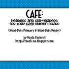 CAFE Headers: Primary Polka Dots & Bright Polka Dots