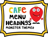 Monster Themed CAFE Headings and Letters