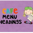 CAFE Headings and Letters