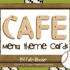 CAFE - Menu Theme Cards (Baseball)