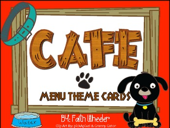 CAFE - Menu Theme Cards (Dogs)