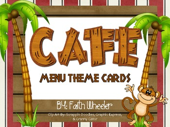 CAFE - Menu Theme Cards (Monkeys)