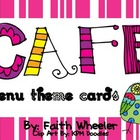 CAFE - Menu Theme Cards (Owls)