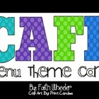 CAFE - Menu Theme Cards (Polka Dots II)