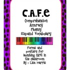 CAFE Notebook with forms and posters