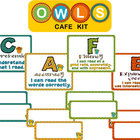 CAFE poster kit - Owl theme