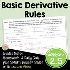CALCULUS DIFFERENTIATION UNIT Lesson 2: Basic Differentiat