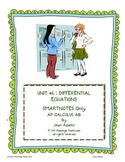 CALCULUS UNIT 6: DIFFERENTIAL EQUATIONS SmartNotes Only
