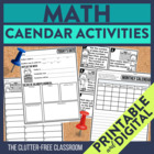 CALENDAR TASK CARDS &amp; ACTIVITIES