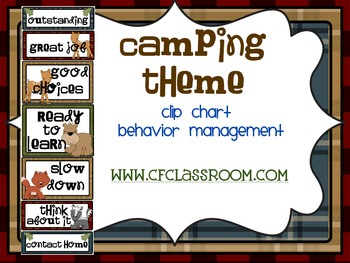 CAMPING THEME CLIP CHART / BEHAVIOR PLAN-classroom theme {