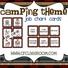 CAMPING THEME JOB CHART-classroom theme {printables)