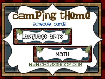 CAMPING THEME SCHEDULE CARDS-classroom theme {printables)