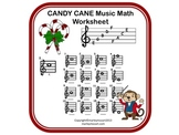 CANDY CANE -NAME THAT MUSIC NOTE C Scale w Answer Sheet!