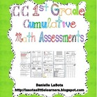 CC First Grade Cumulative Math Assessments