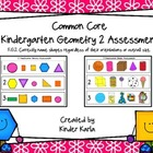 CC Kindergarten Geometry 2 Shape Assessment