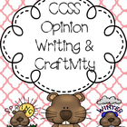 Differentiated Opinion Writing & Craftivity & F&O Scoot Ga
