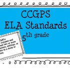 CCGPS ELA 5th Standards Posters