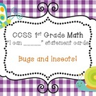 CCSS 1st Grade Math Teacher Checklist + I can Statement Ca