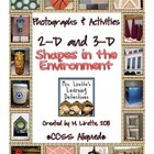 CCSS 2D &amp; 3D Shapes in the Environment {Photographs &amp; Activities}