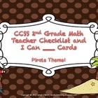 CCSS 2nd Grade Math Teacher Checklist and I can Statement