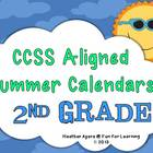 CCSS Aligned Summer Activity Calendars - 2nd grade