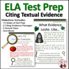 CCSS Citing Evidence Test Prep for Students (SBAC, PARCC)
