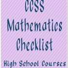 CCSS High School Mathematics Curriculum Checklist (Trimesters)