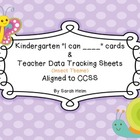 CCSS Kindergarten Math I can ____ statement cards and Teac