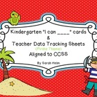 CCSS Kindergarten Math Teacher Checklist and I Can ____ St