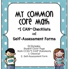 "CCSS Math ""I Can"" Statements - Student Friendly Checklists"