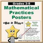 CCSS Math Practices for Elementary Students &quot;BE A STAR&quot; Posters