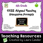 CCSS Reading Discussion Prompts (4th Grade)