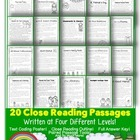 CCSS TDQ Text Evidence March Reading Pack {100% Aligned to