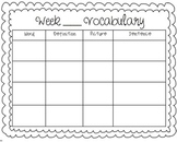 CCSS Vocabulary Graphic Organizer