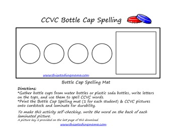 CCVC Bottle Cap Spelling
