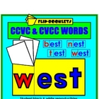 CCVC and CVCC Words Flip Booklets