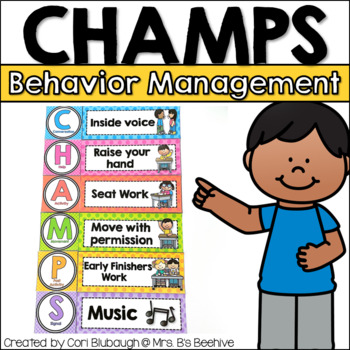 CHAMPS Behavior Management Signs (PBIS)
