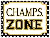 CHAMPS Poster - Polka Dot Yellow