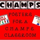 C.H.A.M.P.S. Posters (Red, White, and Black theme)