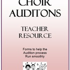 'CHOIR AUDITION FORMS'