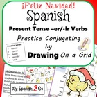 CHRISTMAS: Draw the Correct Conjugation Reg Present Tense