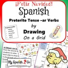 CHRISTMAS:  Draw the Correct Conjugation Reg Preterite --ar