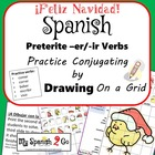 CHRISTMAS: Draw the Correct Conjugation Reg Preterite --er and ir