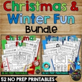 CHRISTMAS and WINTER FUN Packet K, 1, 2 Crosswords, Word S
