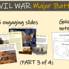 CIVIL WAR: MAJOR BATTLES (part 3 of 4) visuals, texts, gra