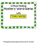 CKLA Tricky Words -Mystery Word- {Critical Thinking}
