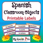 CLASSROOM OBJECTS:  in Spanish Labels