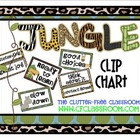 CLIP CHART BEHAVIOR PLAN for a JUNGLE ~ SAFARI CLASSROOM THEME