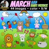 CLIPART COLLECTION: MARCH AND SAINT PATRICK – 44 IMAGES –