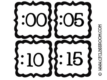 CLOCK NUMBERS to match ANY CLASSROOM DECOR {Blackline Design}